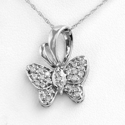 0.25 Carat Diamond Butterfly Pendant