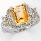 2.34 Carat Citrine & Diamond Ring