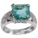 5.48 Carat Fluorite & Diamond Ring