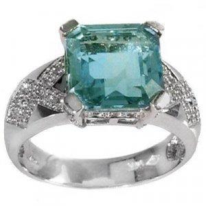 5.48 Carat Fluorite & Diamond Ring