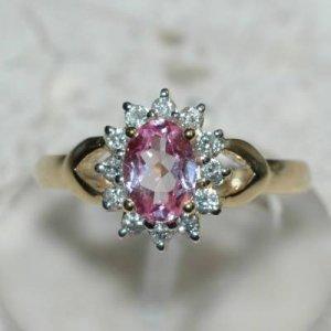 1.0 Carat Pink Sapphire & Diamond Ring