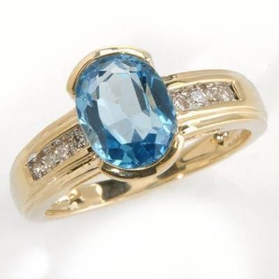 1.62 Carat Topaz & Diamond Ring