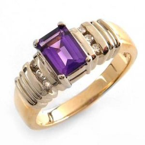 1.0 Carat Amethyst & Diamond Ring