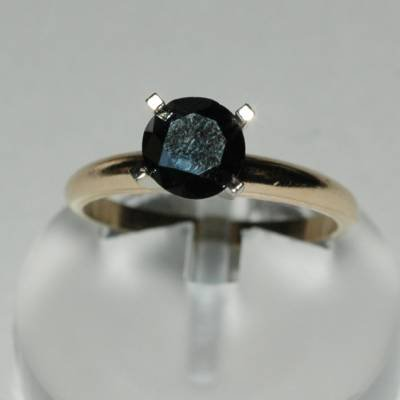 2.0 Carat Black Diamond Ring & Earring Set