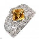 2.4 Carat Citrine & Diamond Ring