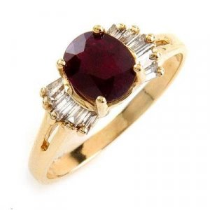 1.63 Carat Ruby & Diamond Ring
