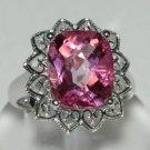 6.46 Carat Pink Topaz Ring