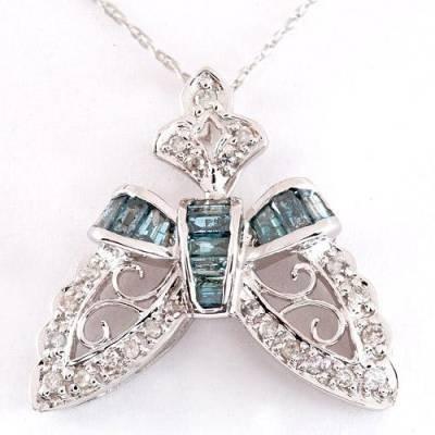 0.57 Carat Blue Diamond Necklace