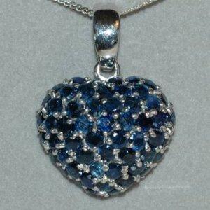 8.70 Carat Sapphire Heart Pendant