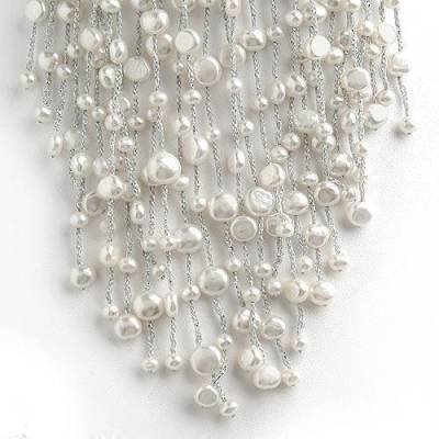 White Pearl Tier Necklace