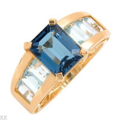 5.5 Carat Blue Topaz Ring