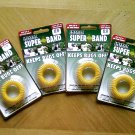 4 New INSECT REPELLING SUPER BAND Wristbands, Keeps Bugs Off, One size fits all