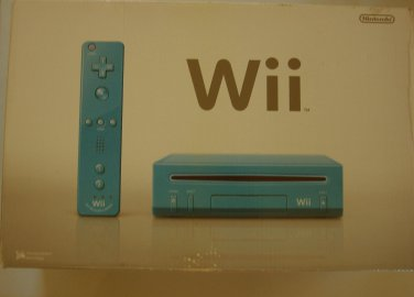 Nintendo WII Blue (Limited Edition) w/ 750gb Drive & Games