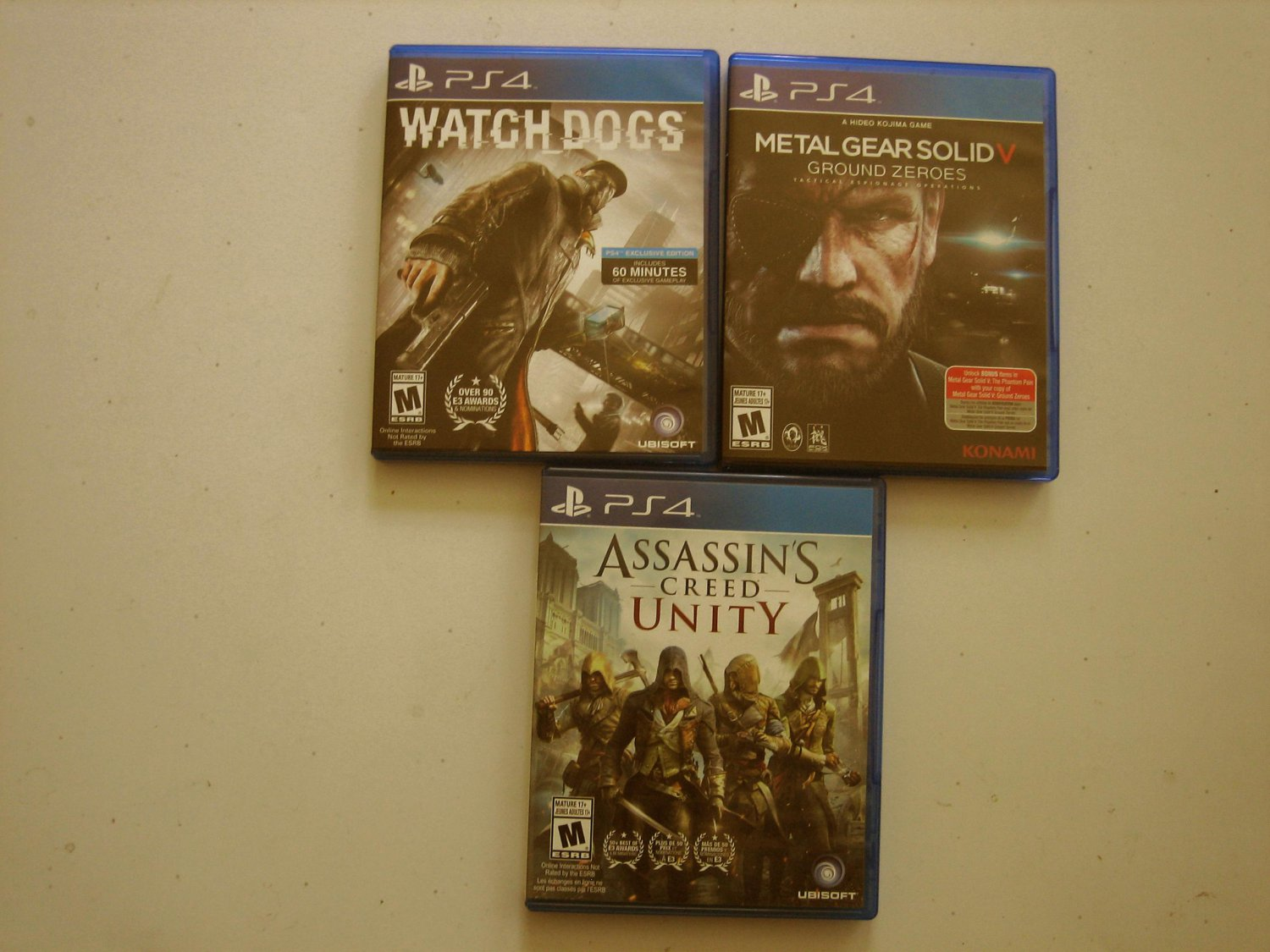 Metal Gear Solid V, Watchdogs, Assassin's Creed Bundle
