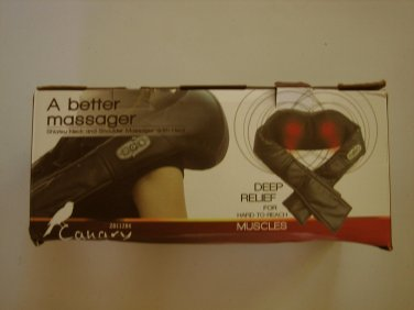 NEW Canary Shiatsu Neck & Shoulder Massager w Heat for Home Office Car