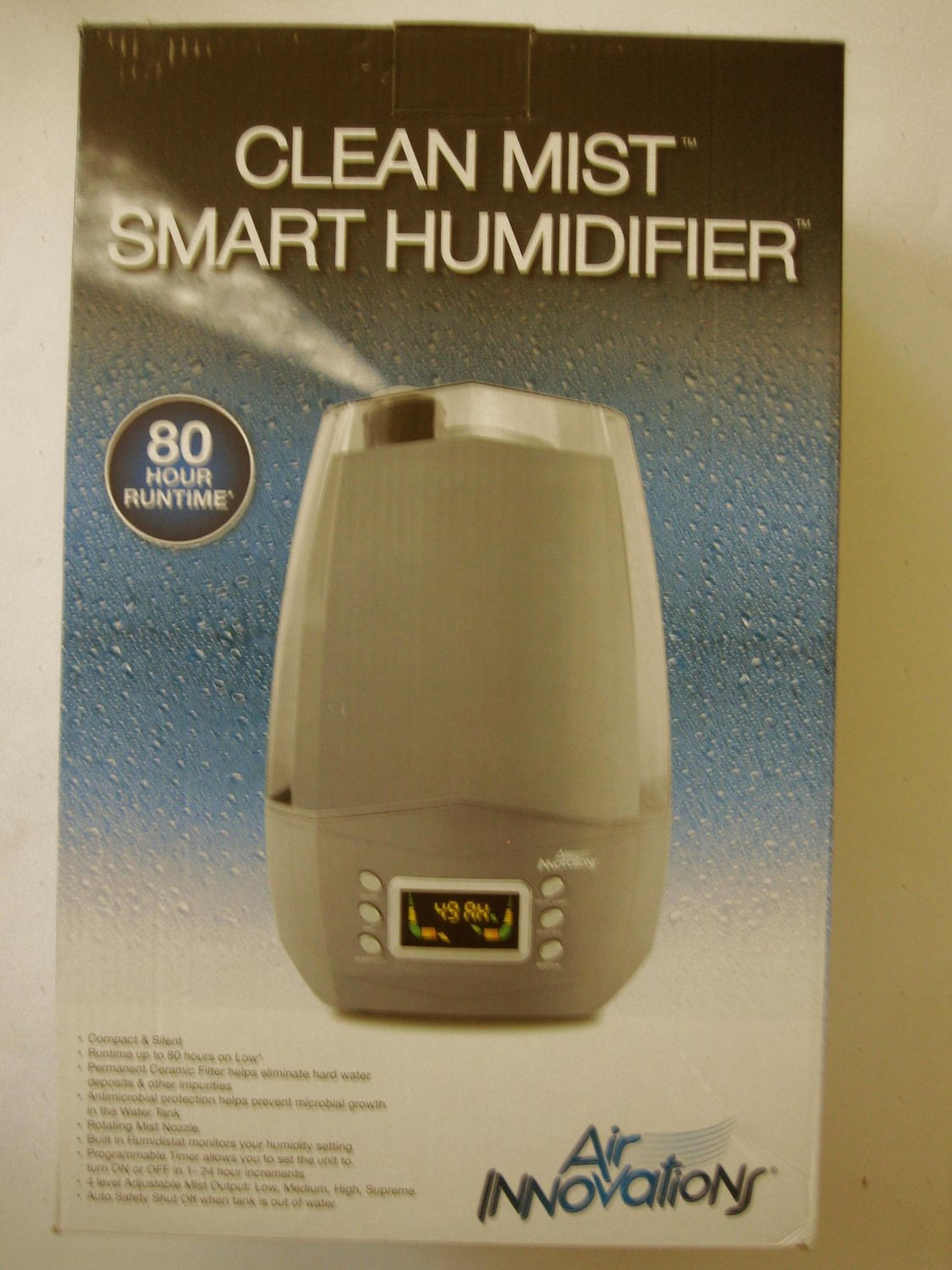 NEW Air Innovations MH-512 Digital Clean Mist Humidifier 5.7L Platinum