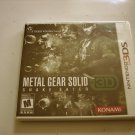 Metal Gear Solid Snake Eater 3ds Original Print (New)