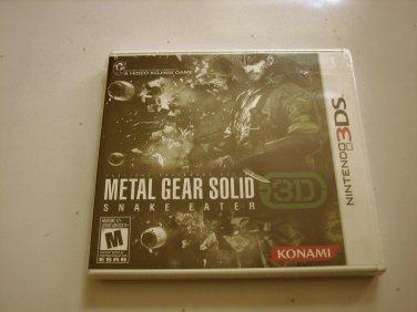 Metal Gear Solid Snake Eater 3ds Original Print (New)