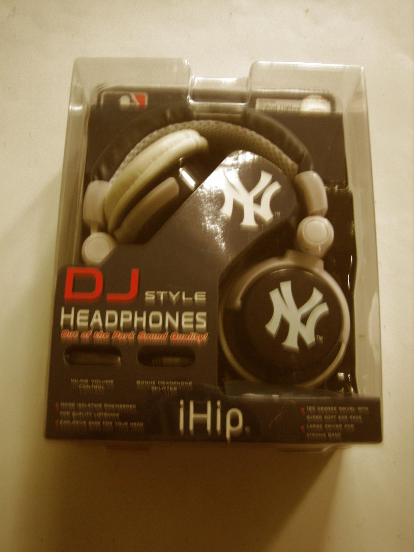 New iHip  DJ STYLE NY YANKEES HEADPHONES