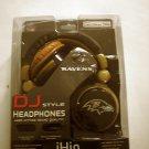 New iHip  DJ STYLE Baltimore Ravens HEADPHONES