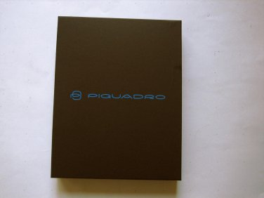 New Piquadro iPad Air Leather Case With Shoulder Strap (Black)