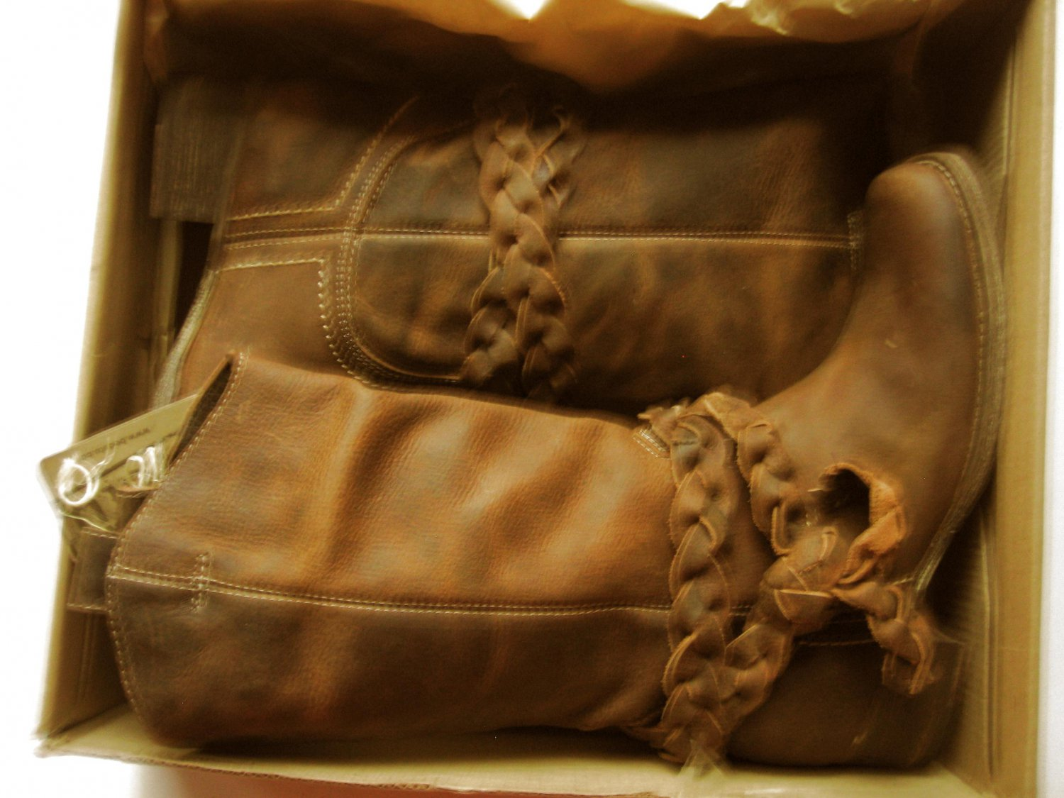 New Bed Stu Womens Saphire Distressed Leather Boots Tan Greenland 6