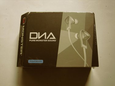 New Monster DNA In-Ear Headphones w Apple Control Talk ( White)