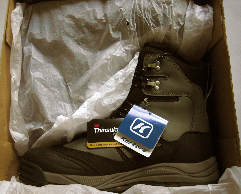 New Korkers  Mens Snowjack Gray Waterproof Snow Boots Shoes 14 Medium (D)