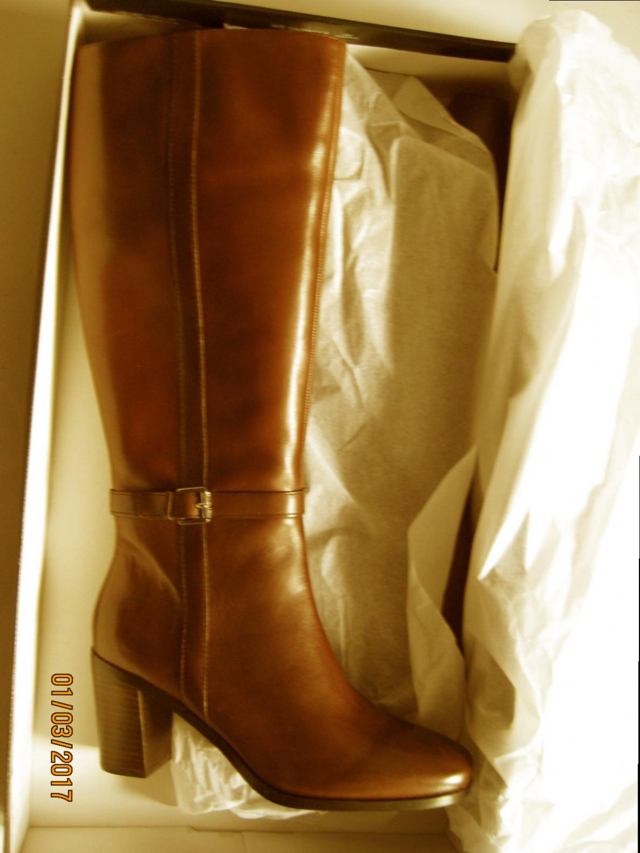 New Lauren Ralph Lauren 2522 Womens Clare Brown Knee-High Boots 9.5 Medium (B,M)