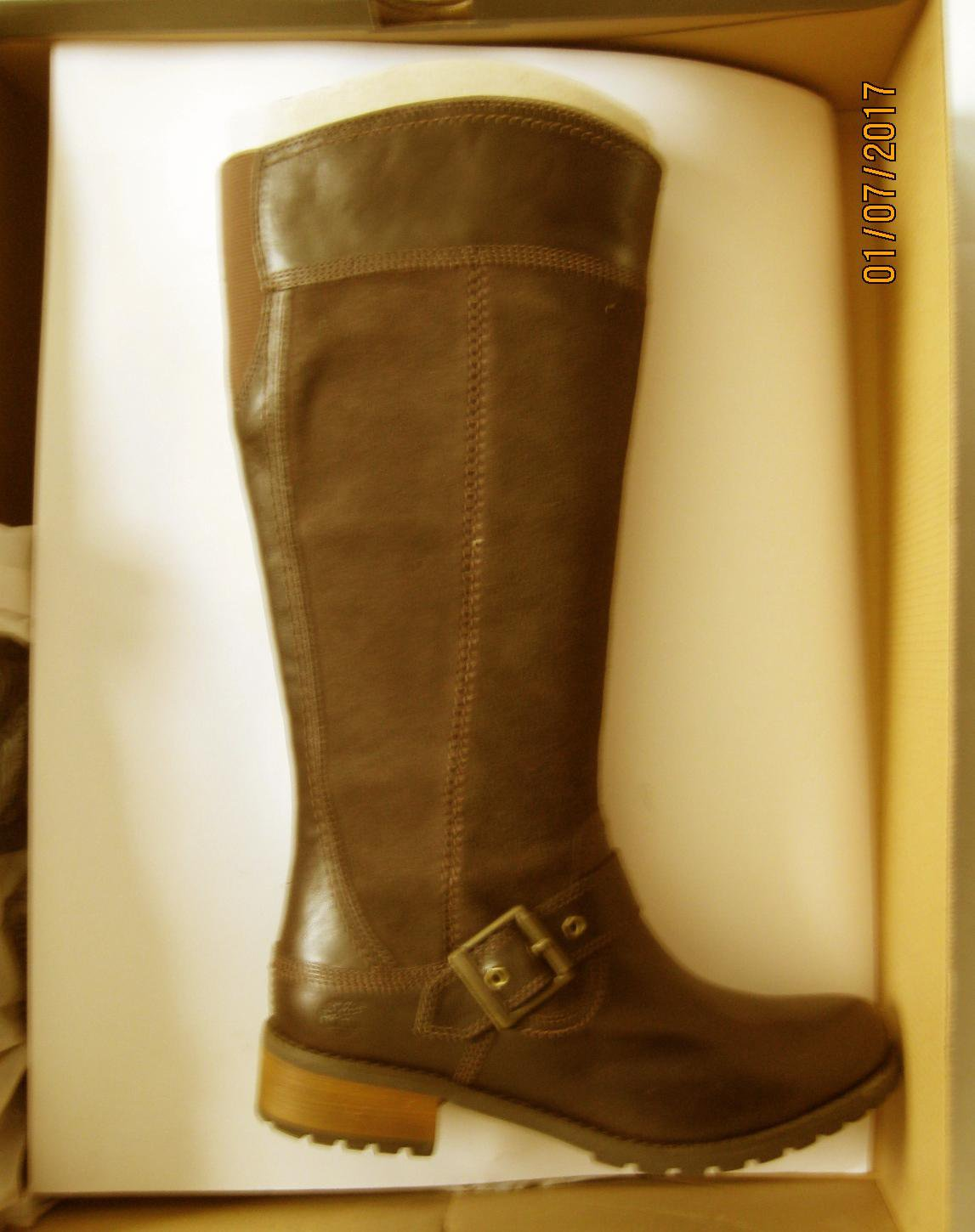 New Timberland Womens EK Bethel Tall Brown Riding Boots 6 Wide (C,D,W)
