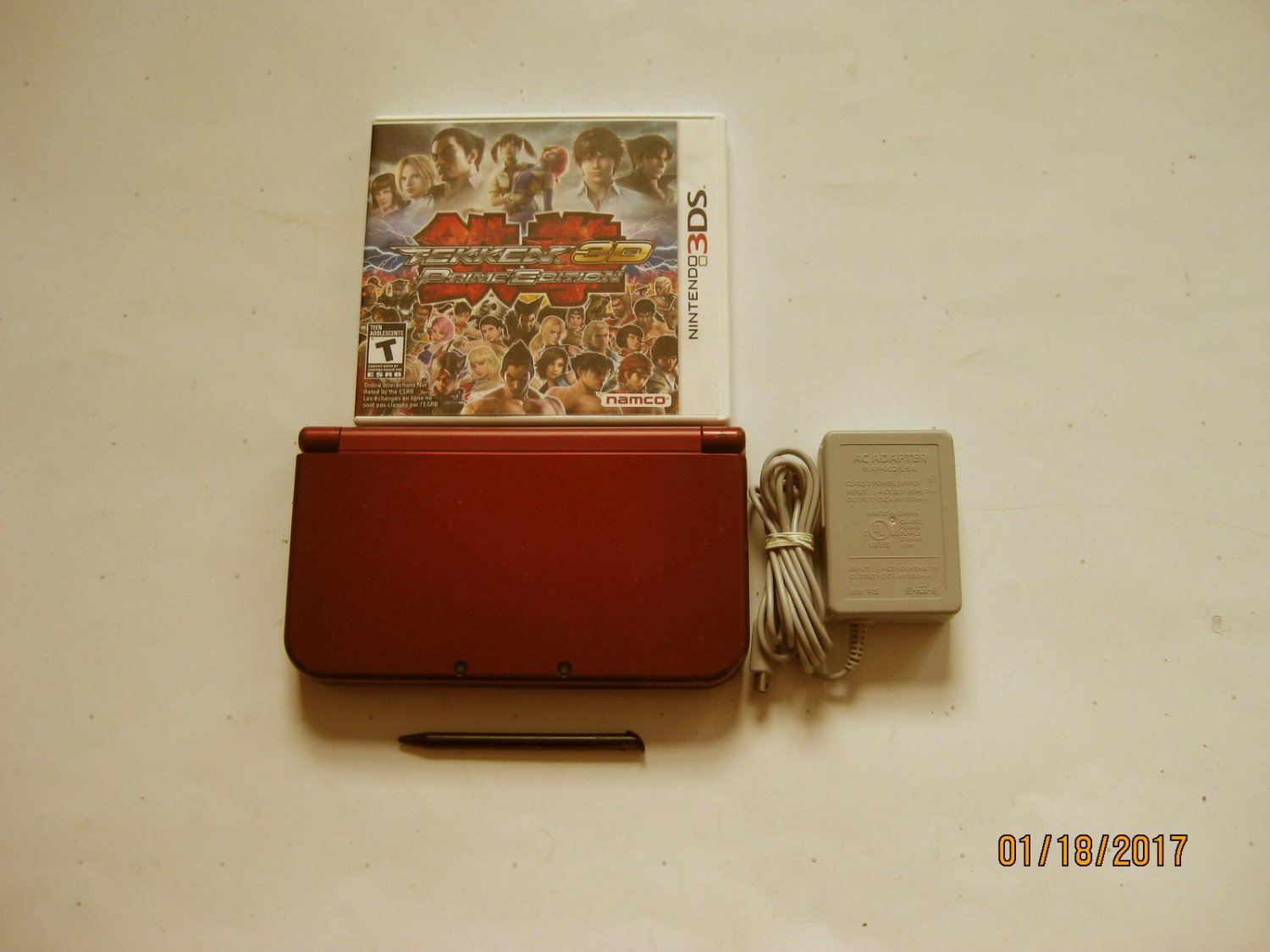 Nintendo New 3DS XL Red 9.0 Firmware version  w Tekken 3d  & More !!