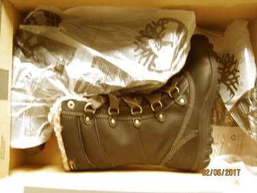 New Timberland Womens Mount Hope Black Winter Boots Shoes 6.5 Medium (B,M)