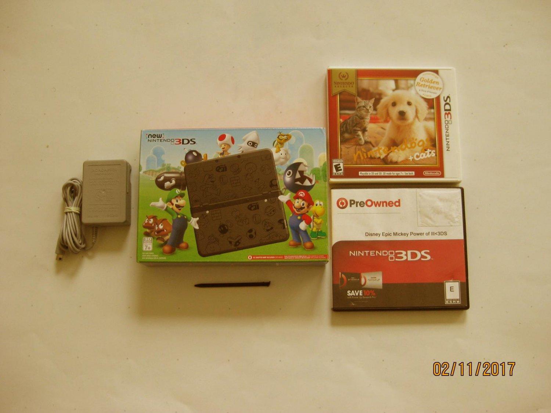 Nintendo New 3ds Mario Black & More!!!