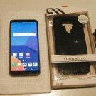 Very Nice Near Mint Jet Black  32gb T-mobile LG G6 w Warranty  & More!!