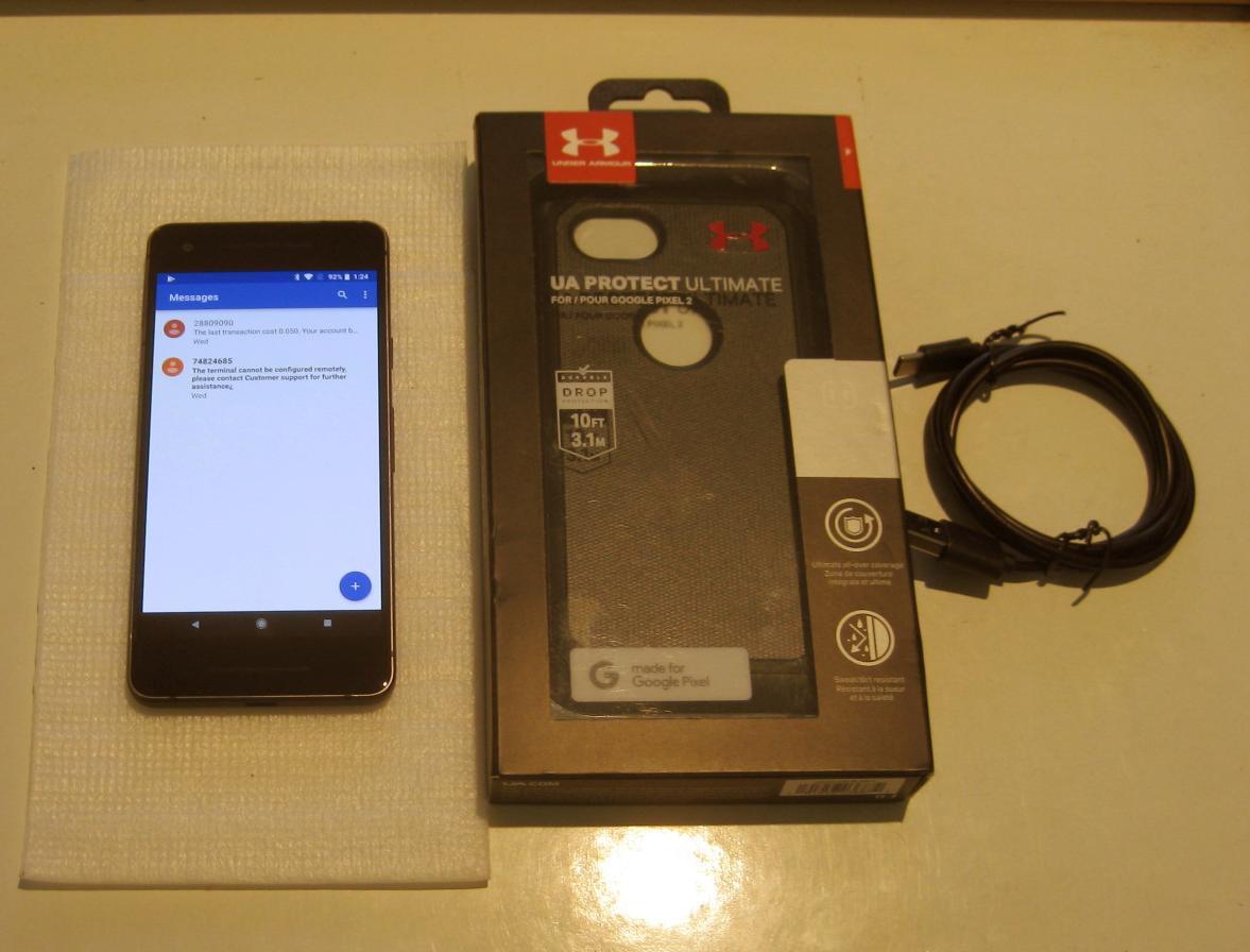 Just Black & Just Excellent  Unlocked Verizon Google Pixel 2  64GB & More !!