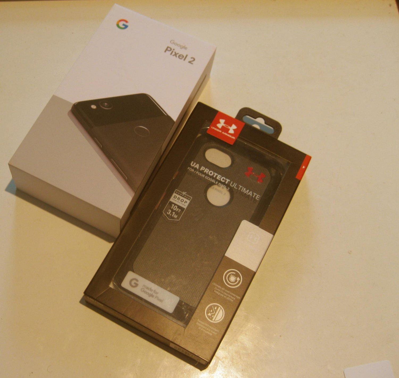 Very Good Black   Unlocked Google Edition  Pixel 2  64GB Bundle!!