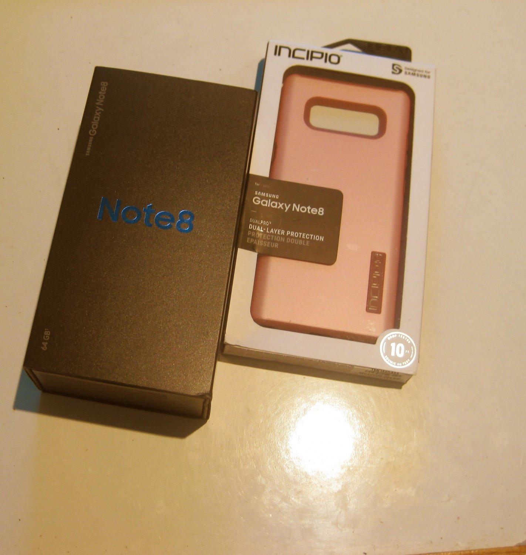 Near Mint 64gb Unlocked AT&T Galaxy  Note 8 SM-N950U Bundle!