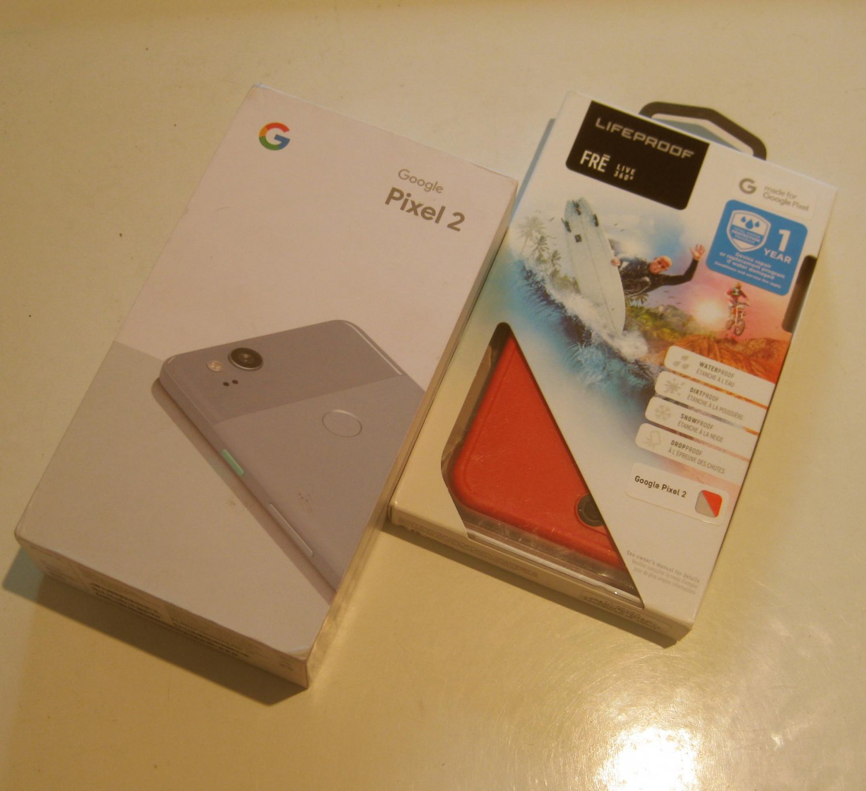 Excellent  Kinda Blue Unlocked  64gb Google Edition  Pixel 2  Bundle!!