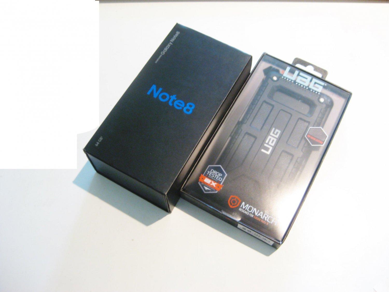 Amazing 9/10  Black 64gb Sprint Samsung  Note 8 Bundle!