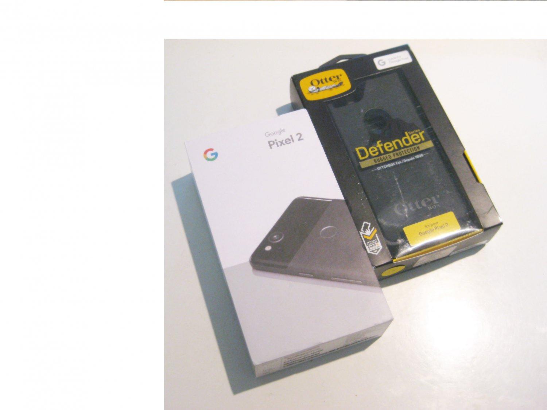 9.5/10  Black   Unlocked Google Edition  Pixel 2  64GB Bundle!!