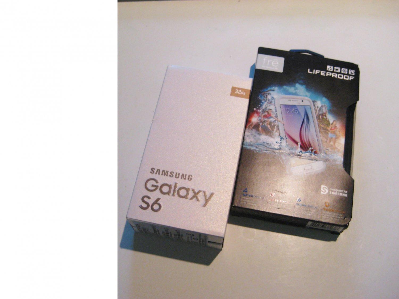 New  Unlocked Gold  AT&T 32gb Samsung Galaxy s6 Bundle!!