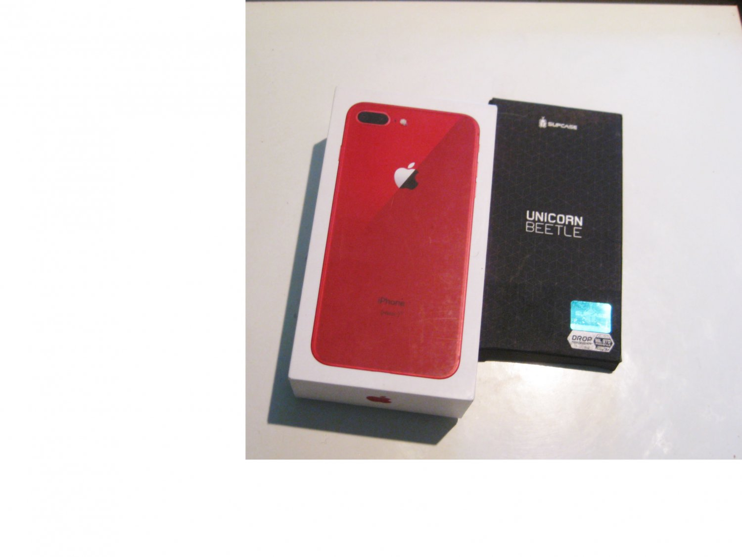 9.5/10   Sprint Candy Apple  Red  64gb  Iphone 8+  A1864 Bundle!!