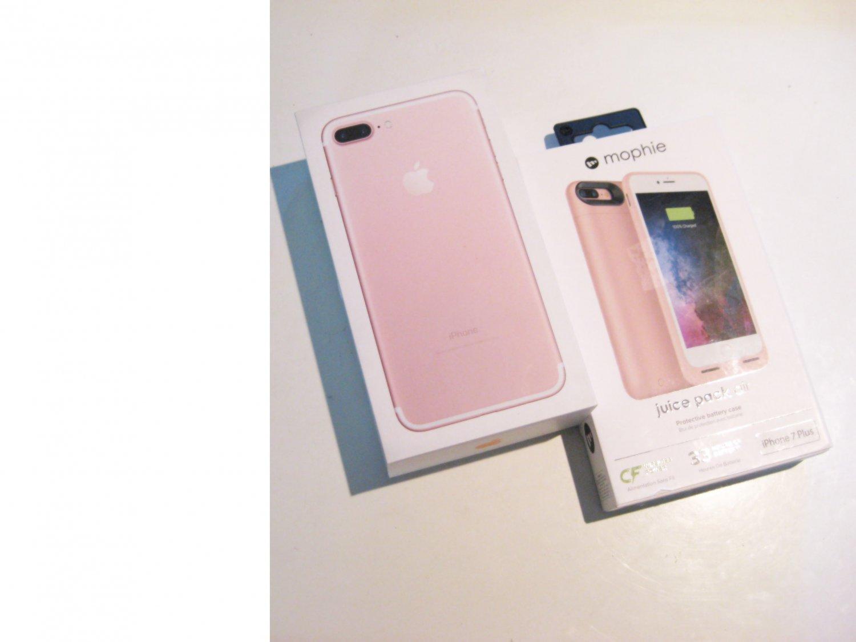 9.3/10 Sweet Rose Gold  32gb   (A1661) Iphone 7 Plus  Bundle!