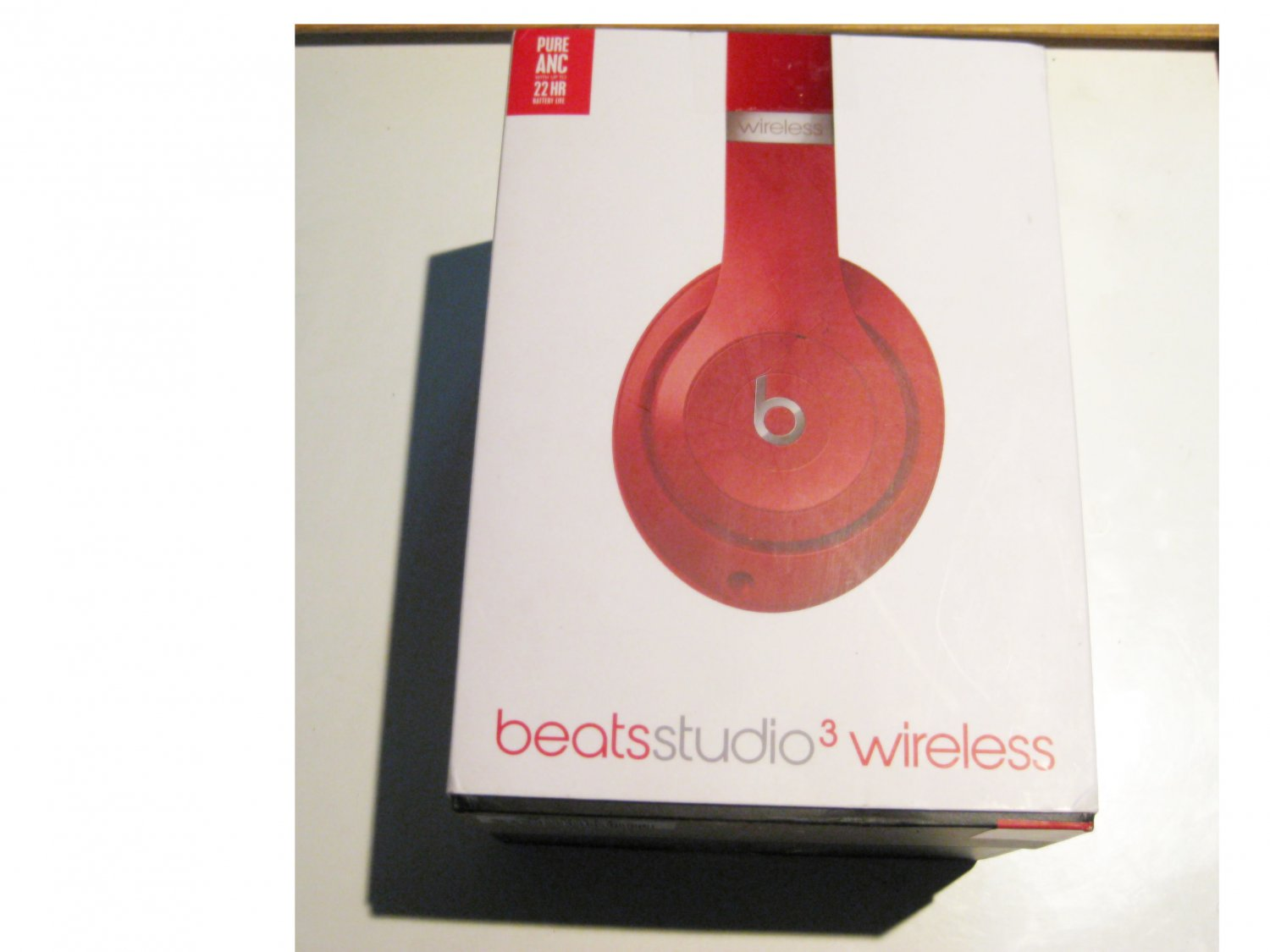 Like New Beats by Dre Studio 3 Bluetooth Over-Ear Headphones, Red