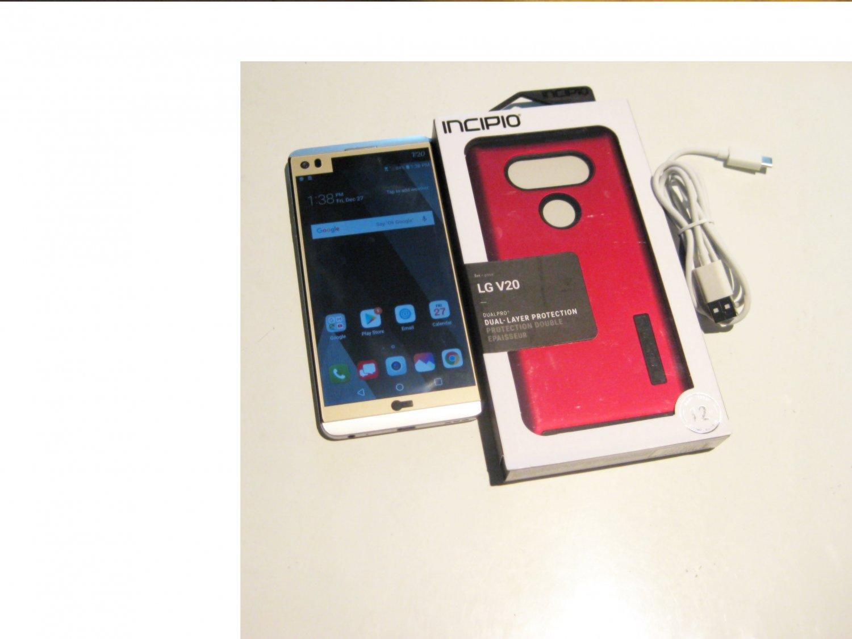 9/10  64gb  Unlocked Silver  Verizon  LG V20 Bundle!!!