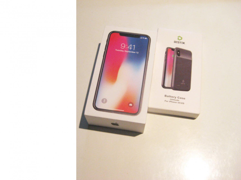 8.9/10  256gb Unlocked  Sprint  Iphone X A1865 Bundle