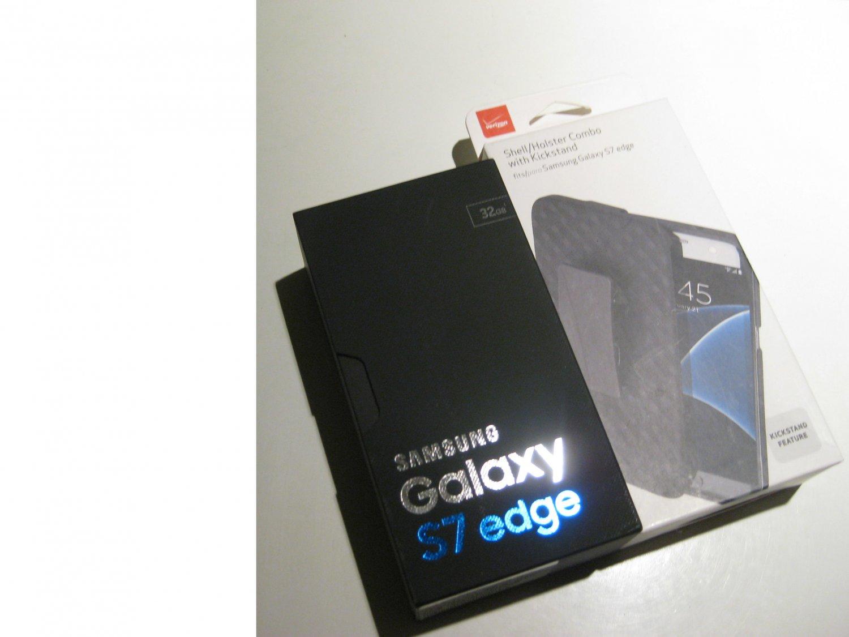 """New"" ""New""  Unlocked 32gb Samsung Galaxy S7 Edge G935V Bundle!!"