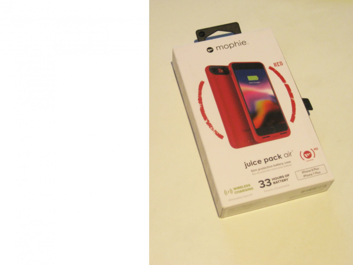 New! Red  Mophie  Juice Pack Air Case Iphone 7+/8+