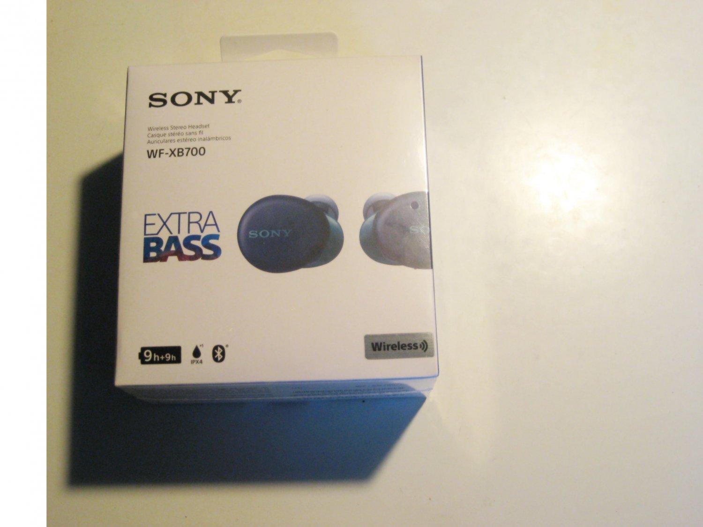 NEW!! Sony WF-XB700 Extra BassS Wireless Stereo Earbuds (BLUE)