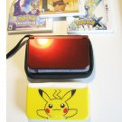 Red Nintendo New 3ds XL w  Detective Pikachu  & More!
